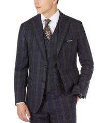 tallia men's slim-fit wool plaid suit jacket