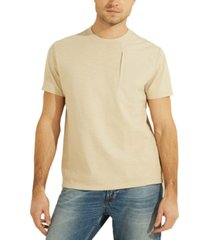 guess men's david nylon pocket t-shirt