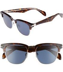 men's rag & bone 52mm sunglasses - havana palladium