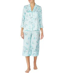2-piece floral capri pajama set