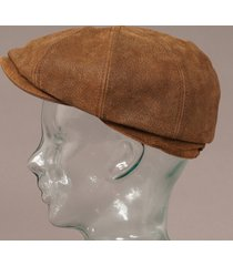 stetson hatteras burney leather newsboy tan cap 268301 6