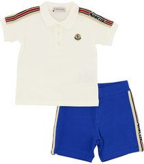 moncler polo and bermuda sports suit