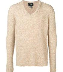 cavalli class v-neck pullover - neutrals