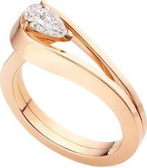 'serti inversé' diamond rose gold ring