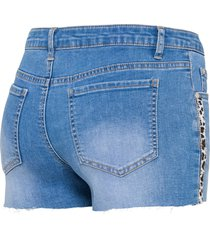 jeans short met applicatie
