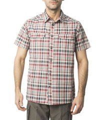 camisa outdoor cuadrillé gris kannú