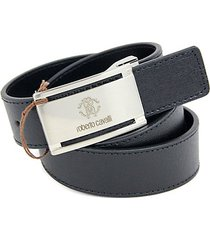 logo buckle saffiano leather belt
