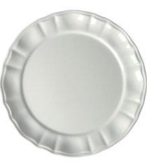 conjunto de pratos sobremesa neo clássico cerâmica 6 peças branco casa alegre