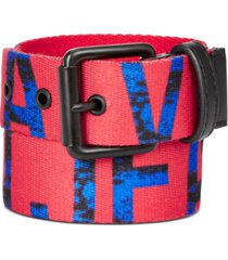 calvin klein big boys printed-logo flat-strap belt