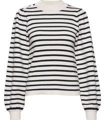 wool mix knit stickad tröja multi/mönstrad ganni