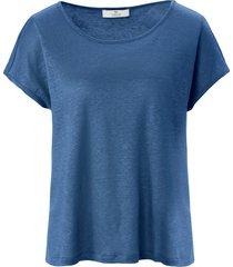 shirt 100% linnen ronde hals van peter hahn pure edition blauw