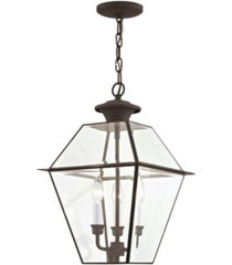 livex westover 3-light outdoor chain lantern