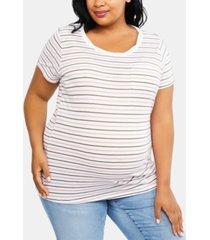 motherhood maternity plus size pocket t-shirt