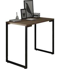 mesa para computador escrivaninha 90cm estilo industrial new port f02 castanho - mpozenato - marrom - dafiti