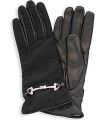 leather-palm gloves