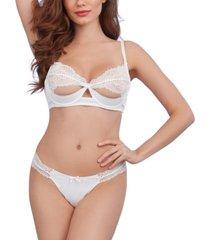 dreamgirl women's 2 piece soft silky microfiber bra and g-string set