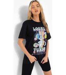 gelicenseerd oversized looney tunes t-shirt, black