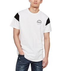 g-star raw men's blocked sleeve logo t-shirt, created for macy's