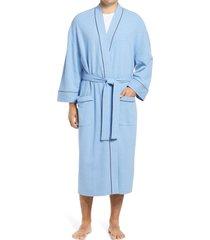 men's majestic international waffle knit robe, size x-large/xx-large - blue