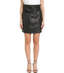 federica tosi leather mini skirt