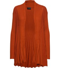 claudisse-l-car stickad tröja cardigan orange free/quent