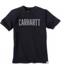 carhartt t-shirt men block logo s/s black-m