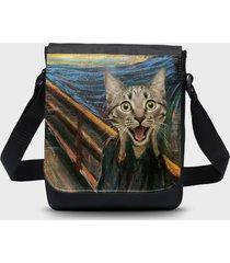 torba na ramię mała cat scream paint