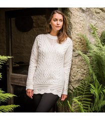 the achill aran tunic cream m