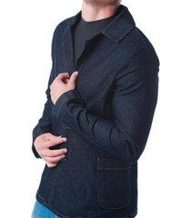 blazer rock & soda jeans botão liso masculino - masculino