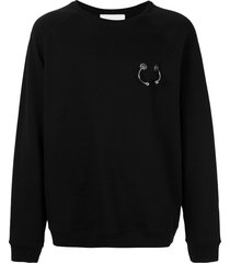 strateas carlucci pierced hardware sweatshirt - black
