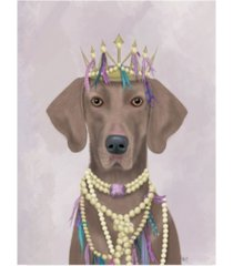 "fab funky weimaraner with tiara canvas art - 27"" x 33.5"""