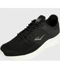 tenis lifestyle negro-blanco-gris everlast propel c1