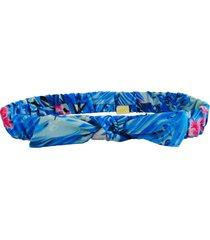 faixa de cabelo ecokids place com elástico e laço aloha multicolorido