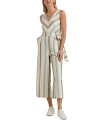 lucky brand daisy striped belted jumpsuit