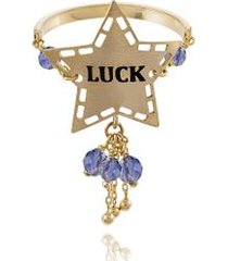 anel wishes luck amarelo com turquesa - 17