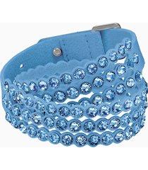 braccialetto swarovski power collection, azzurro