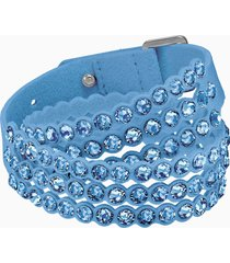 braccialetto swarovski power collection, azzurro