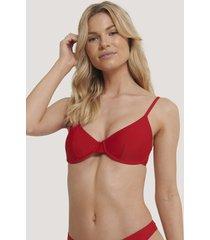 na-kd swimwear basic bikini cup bra - red