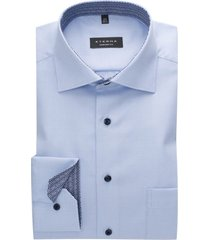 eterna shirt lichtblauw mouwlengte 7 comfort fit