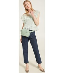 motivi jeans chino con motivo baschina donna blu