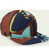 scotch & soda colour block trucker cap