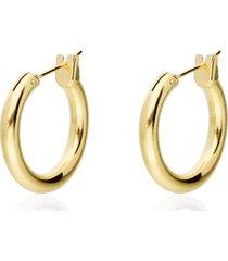 orecchini a cerchio placcato oro per donna
