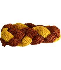 turbante tejido café amarillo minka