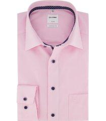 olymp overhemd luxor comfort fit roze strijkvrij