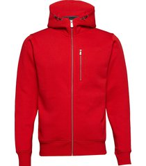 bowman zip hood hoodie trui rood sail racing