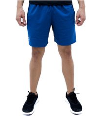 pantaloneta azul under armour launch sw 7 branded sh