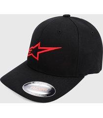 gorra negro-rojo alpinestars angle