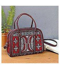 cotton handbag, 'banda ruby' (indonesia)