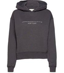 anf womens sweatshirts hoodie grå abercrombie & fitch