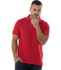 camiseta tipo polo roja hamer fondo entero
